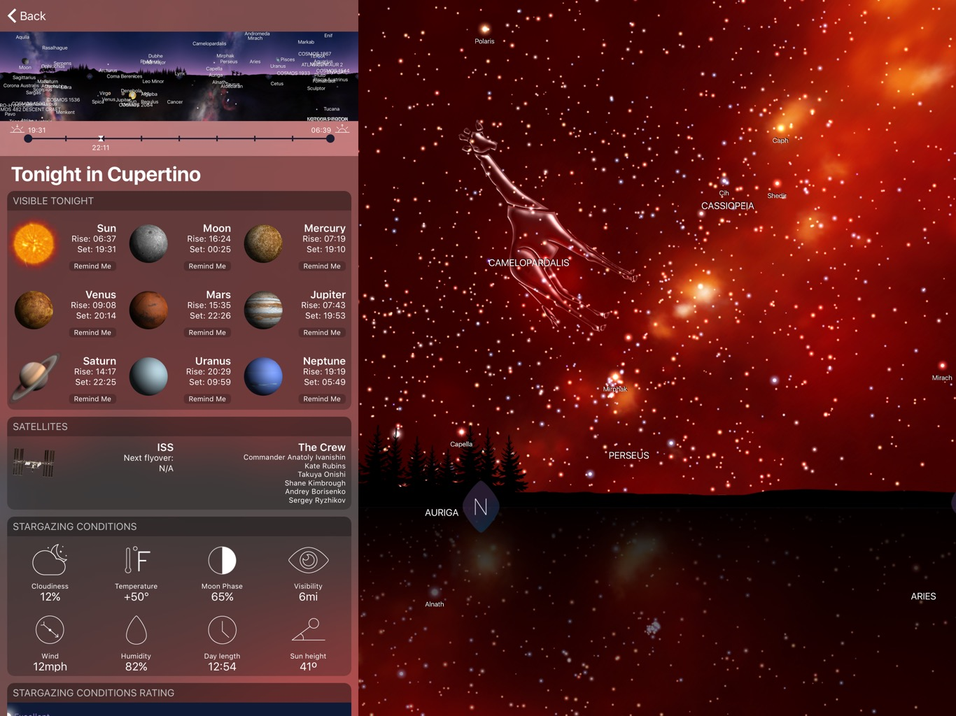 App Night Sky 4 para iOS e watchOS
