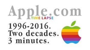 Time-lapse do site da Apple