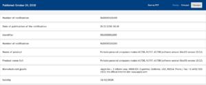 Certificado russo de novos Macs