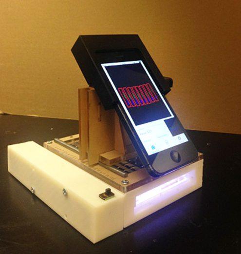 iPhone espectrômetro