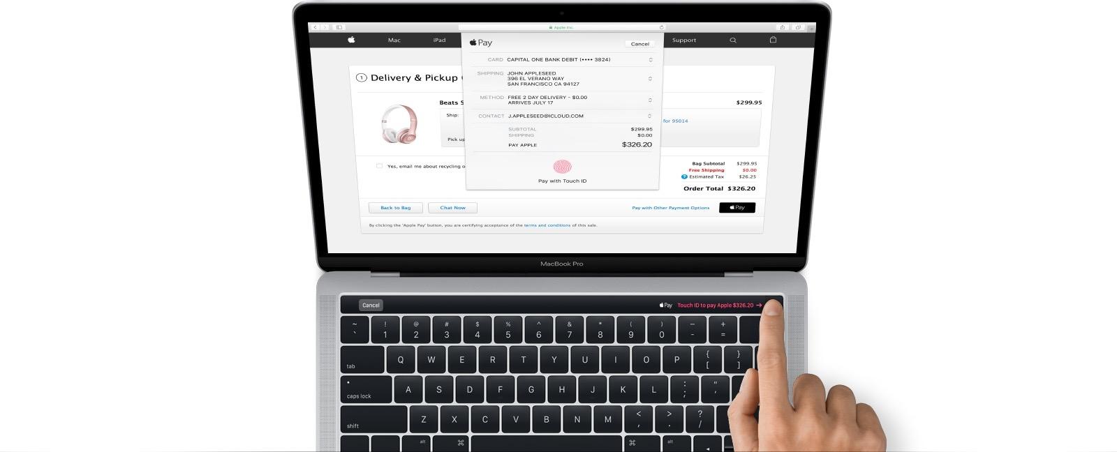 Magic Toolbar do novo MacBook Pro