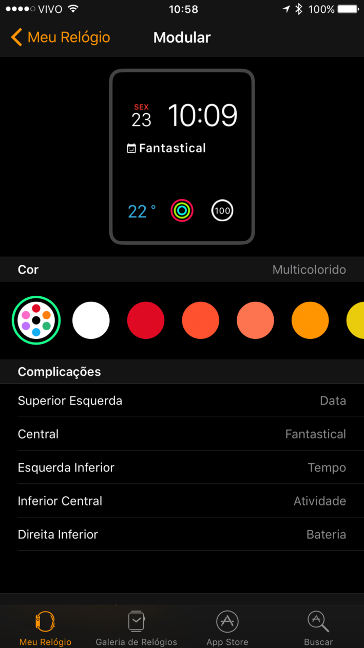 App Watch no iPhone