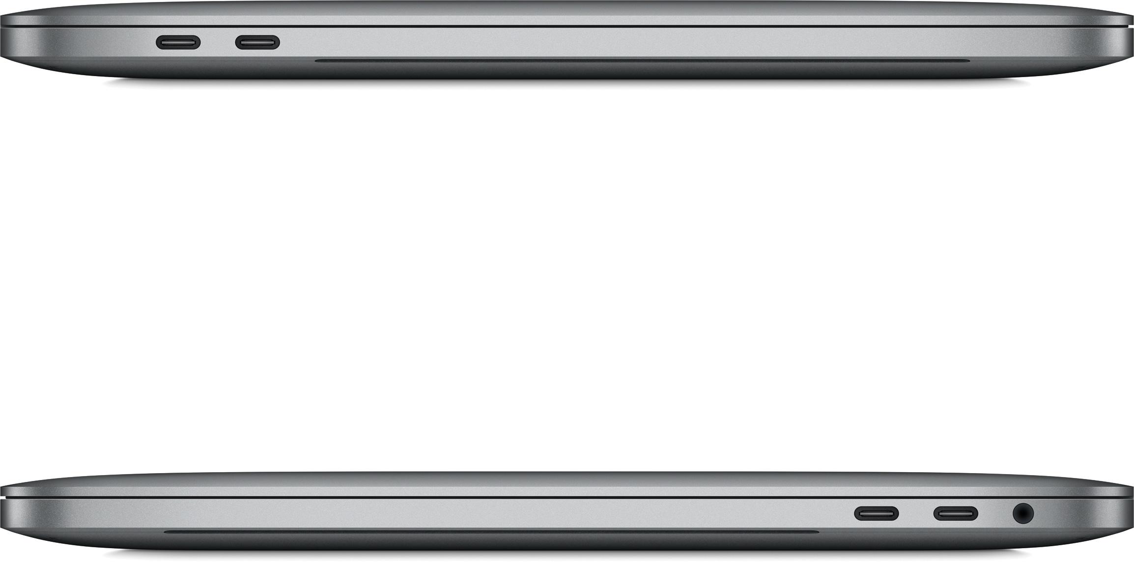 Novos MacBook Pros fechados de lado