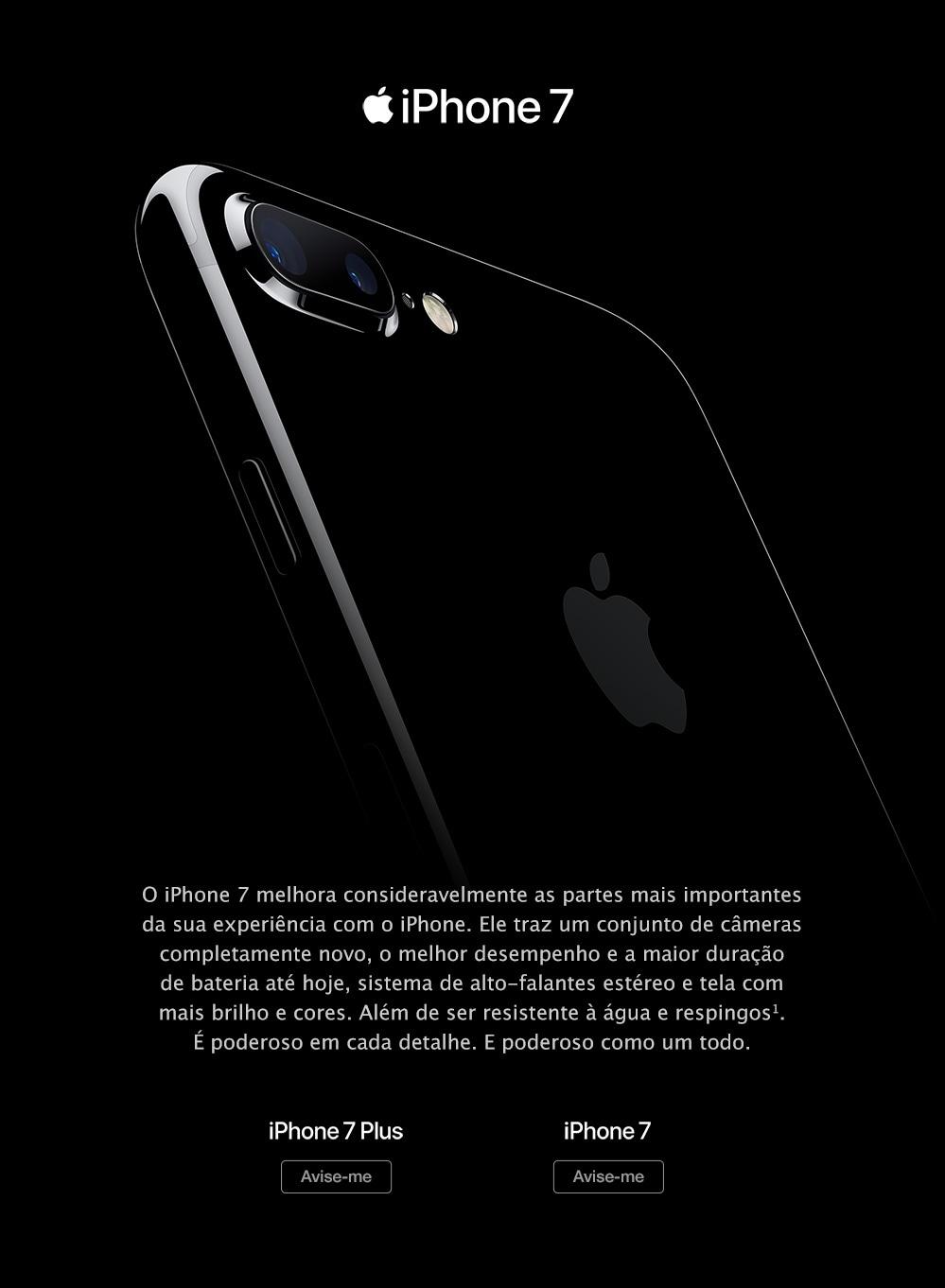Divulgação do iPhone 7 no Brasil