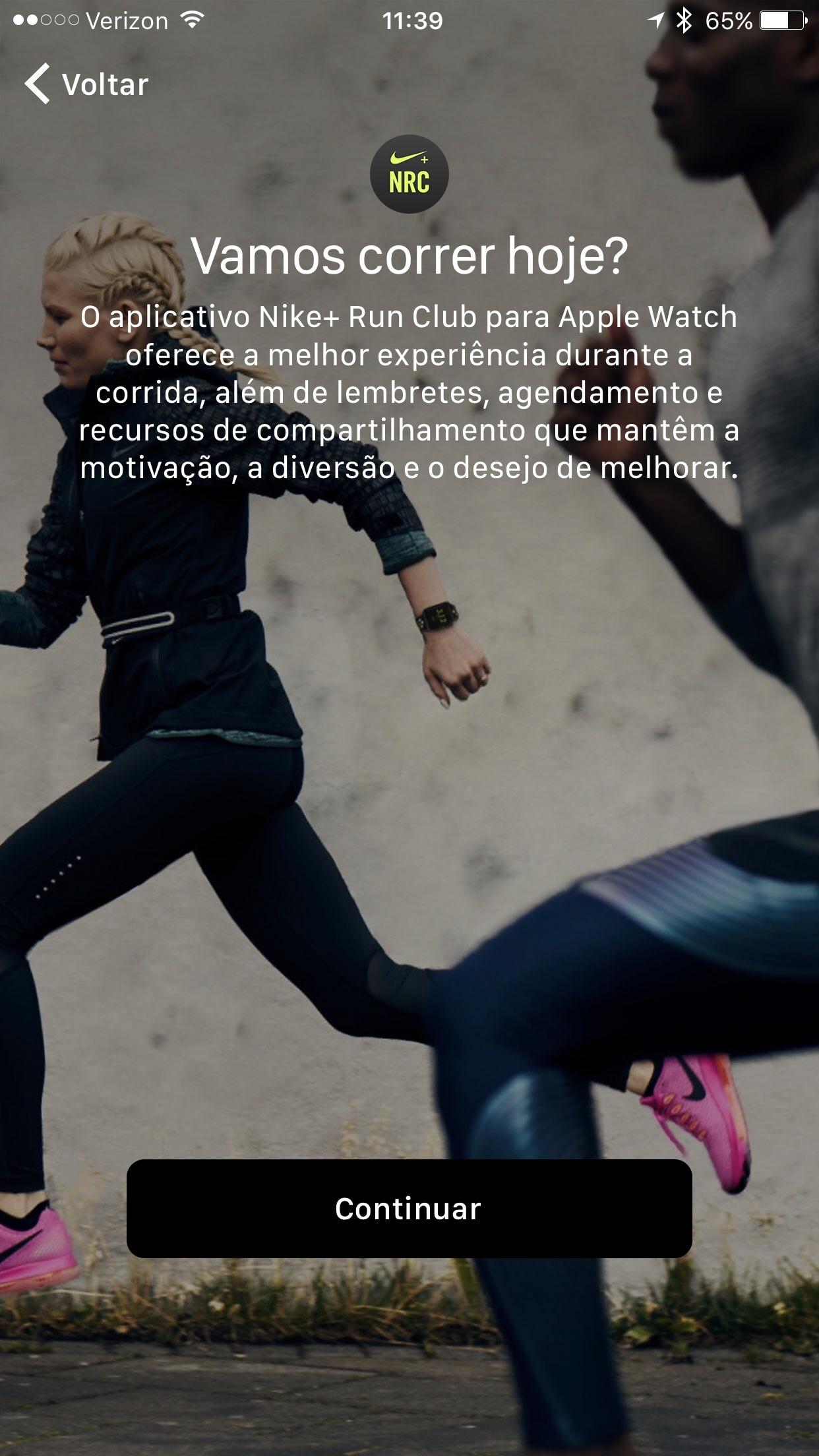 App da Nike recomendado pelo Apple Watch Nike+