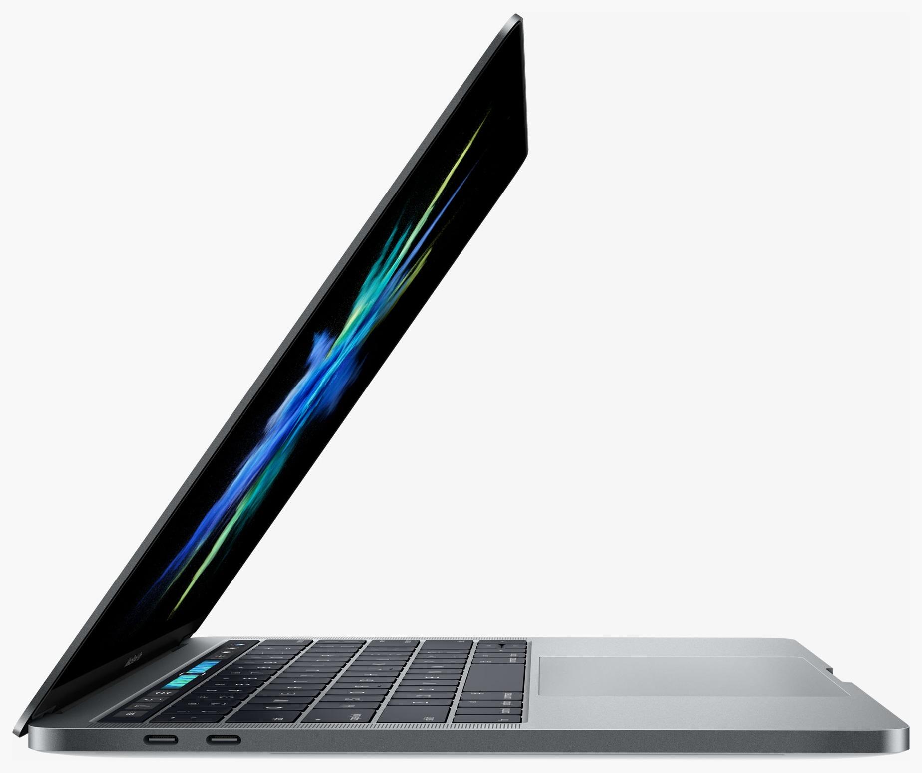 Novo MacBook Pro aberto