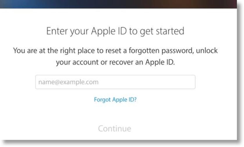 Recuperando a senha do iCloud