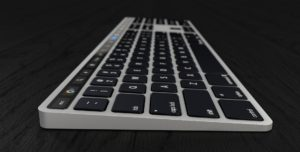 Conceito de Magic Keyboard com Touch Bar