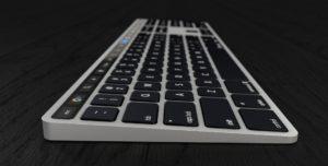Conceito de Magic Keyboard com Touch Bar