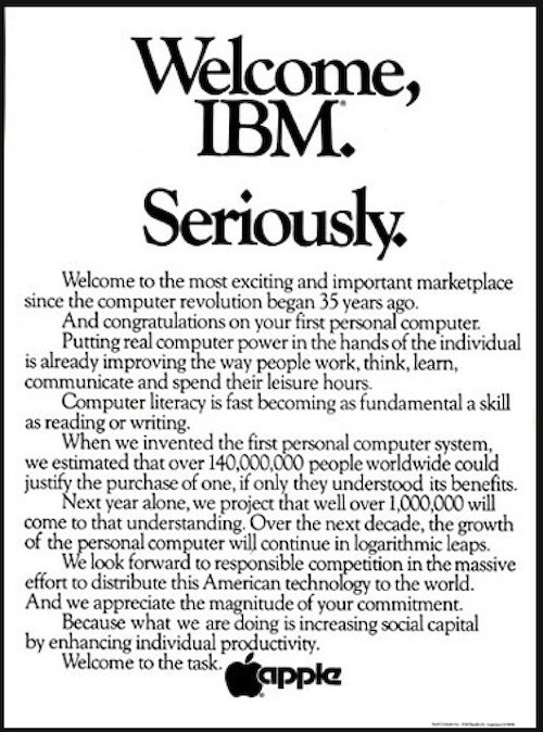 Apple Welcome IBM