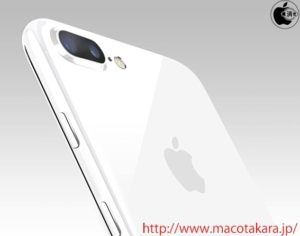 "Mockup de iPhone 7 Plus na cor ""jet white"""