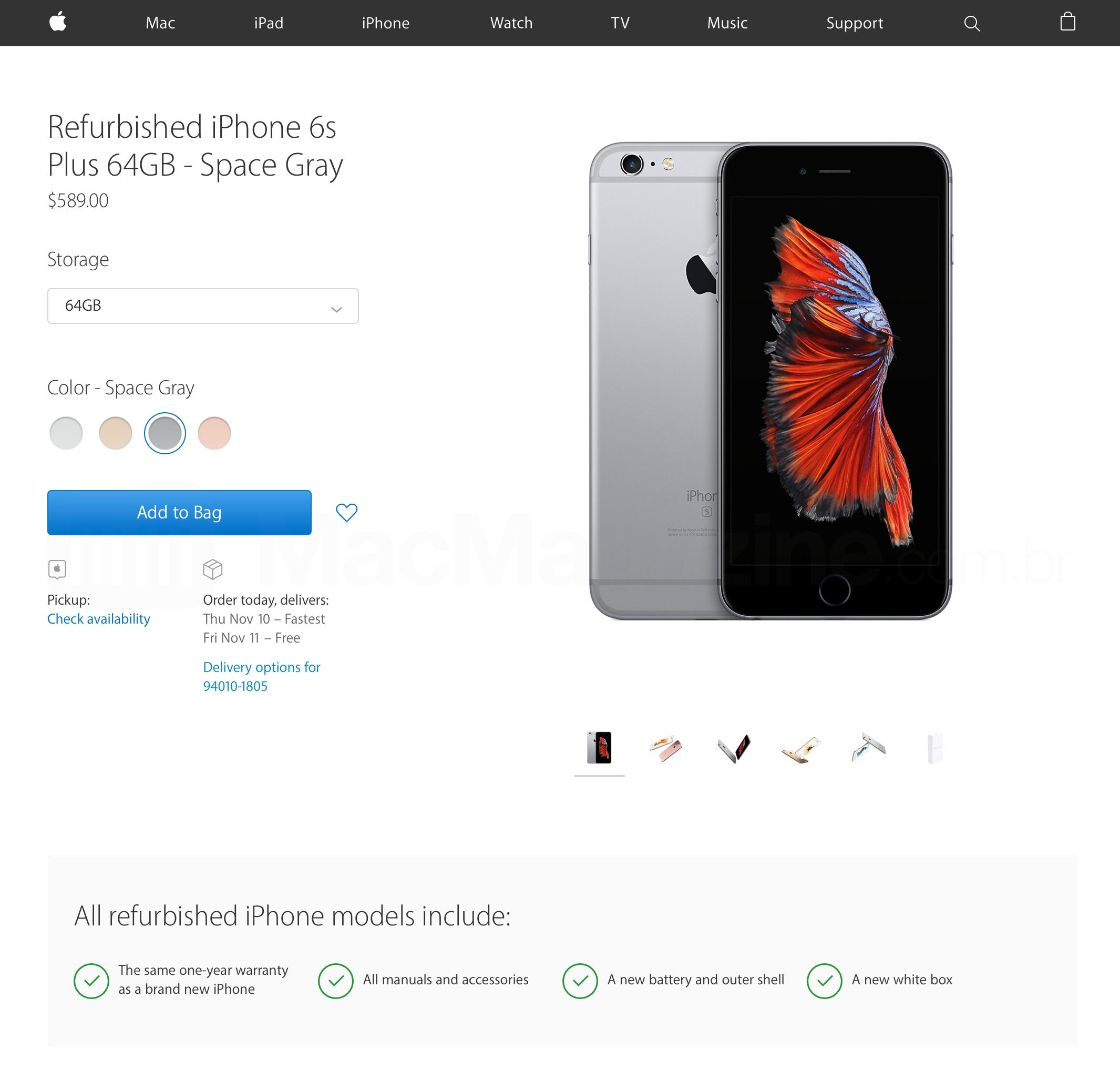 iPhone refurbished agora à venda