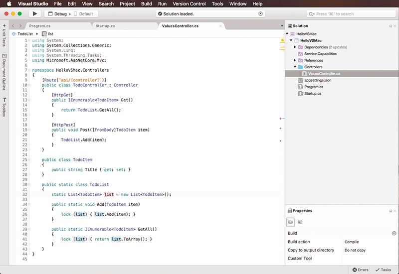 Microsoft Visual Studio para Mac