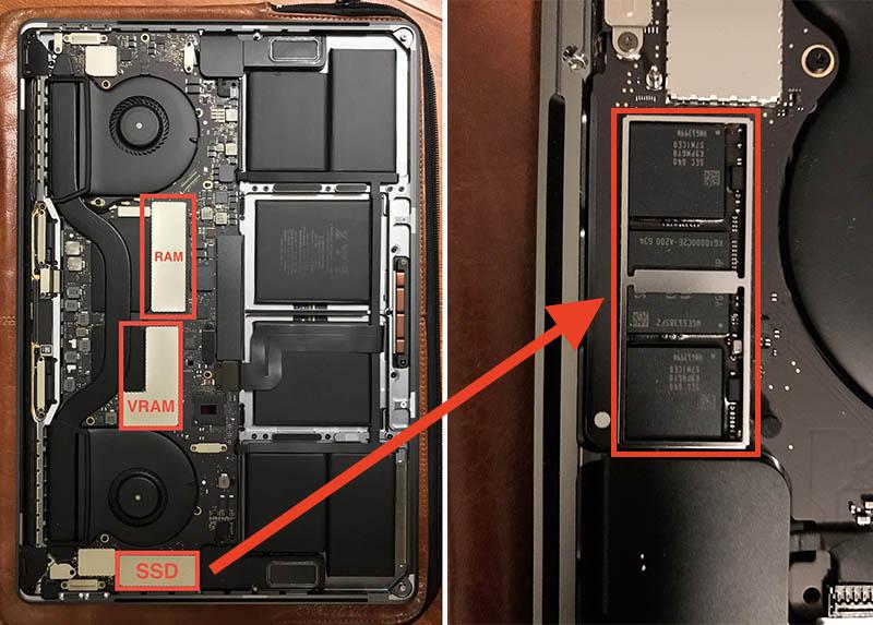 SSD não-removível do MacBook Pro com Touch Bar