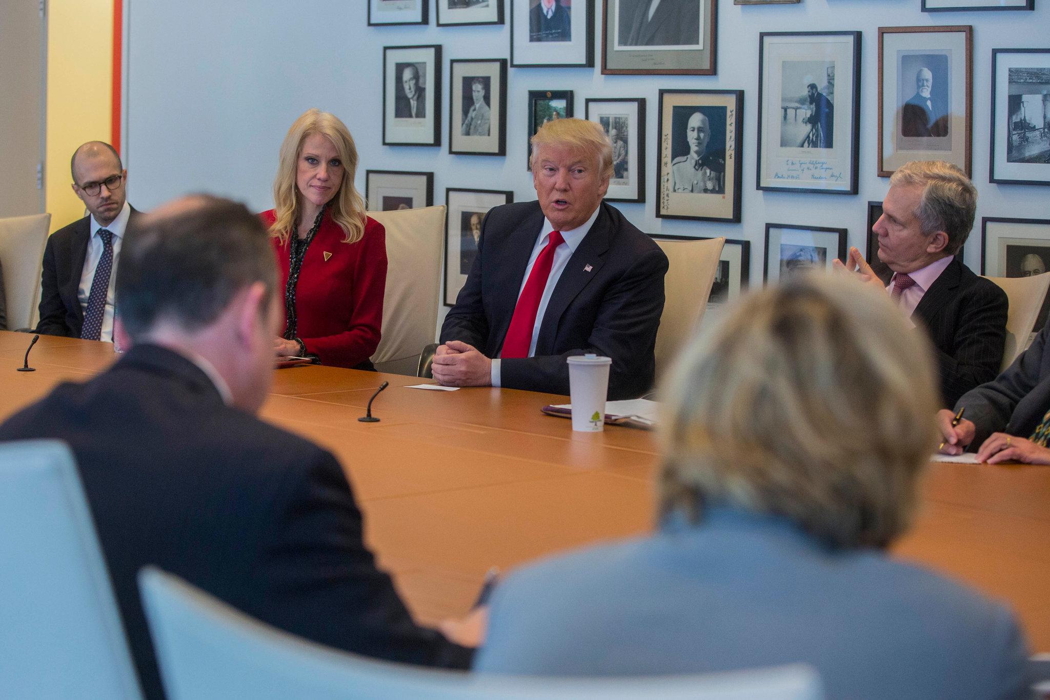 Donald Trump sendo entrevistado pelo The New York Times