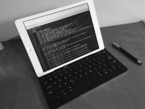 Usando o iPad para programar