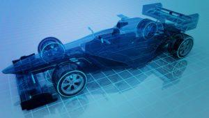 Carro de Fórmula 1 no Blender