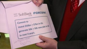 Suposto investimento da SoftBank e da Foxconn