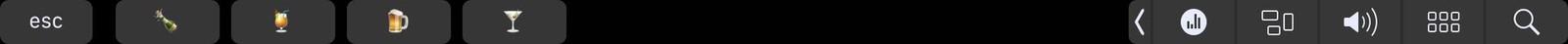 Touchbar bar