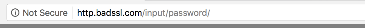 HTTP inseguro no Chrome