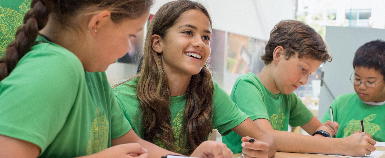 Crianças no Apple Camp