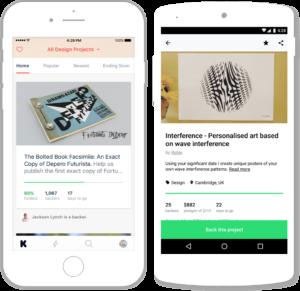 Apps mobile do Kickstarter