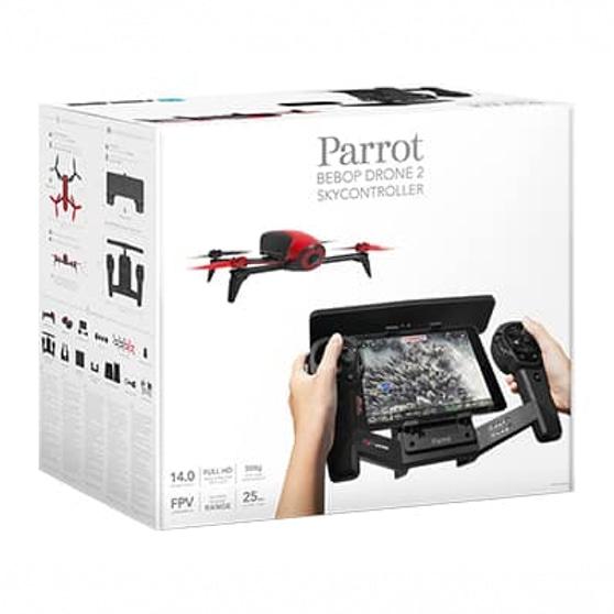 Caixa do BEBOP DRONE 2 com Controlador de Voo, da Parrot