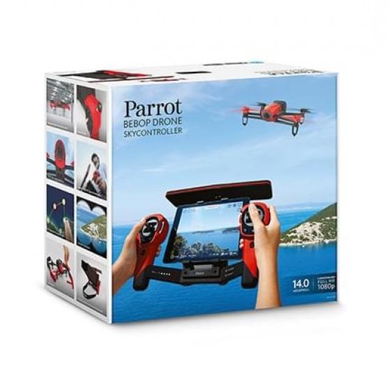 Caixa do BEBOP DRONE com Controlador de Voo, da Parrot