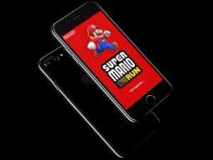 Jogo Super Mario Run em um iPhone 7 Plus