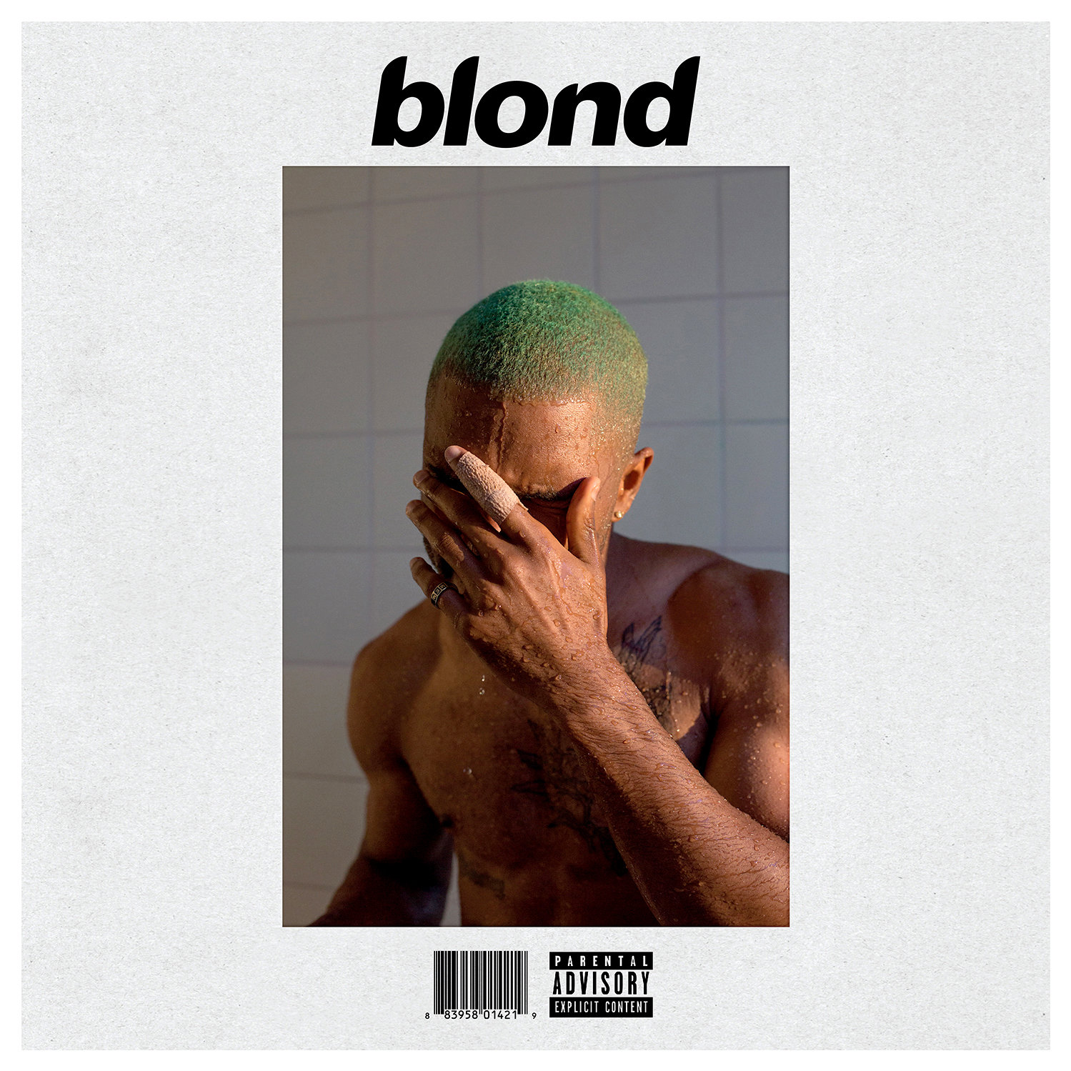 "Capa do álbum ""Blonde"", de Frank Ocean"