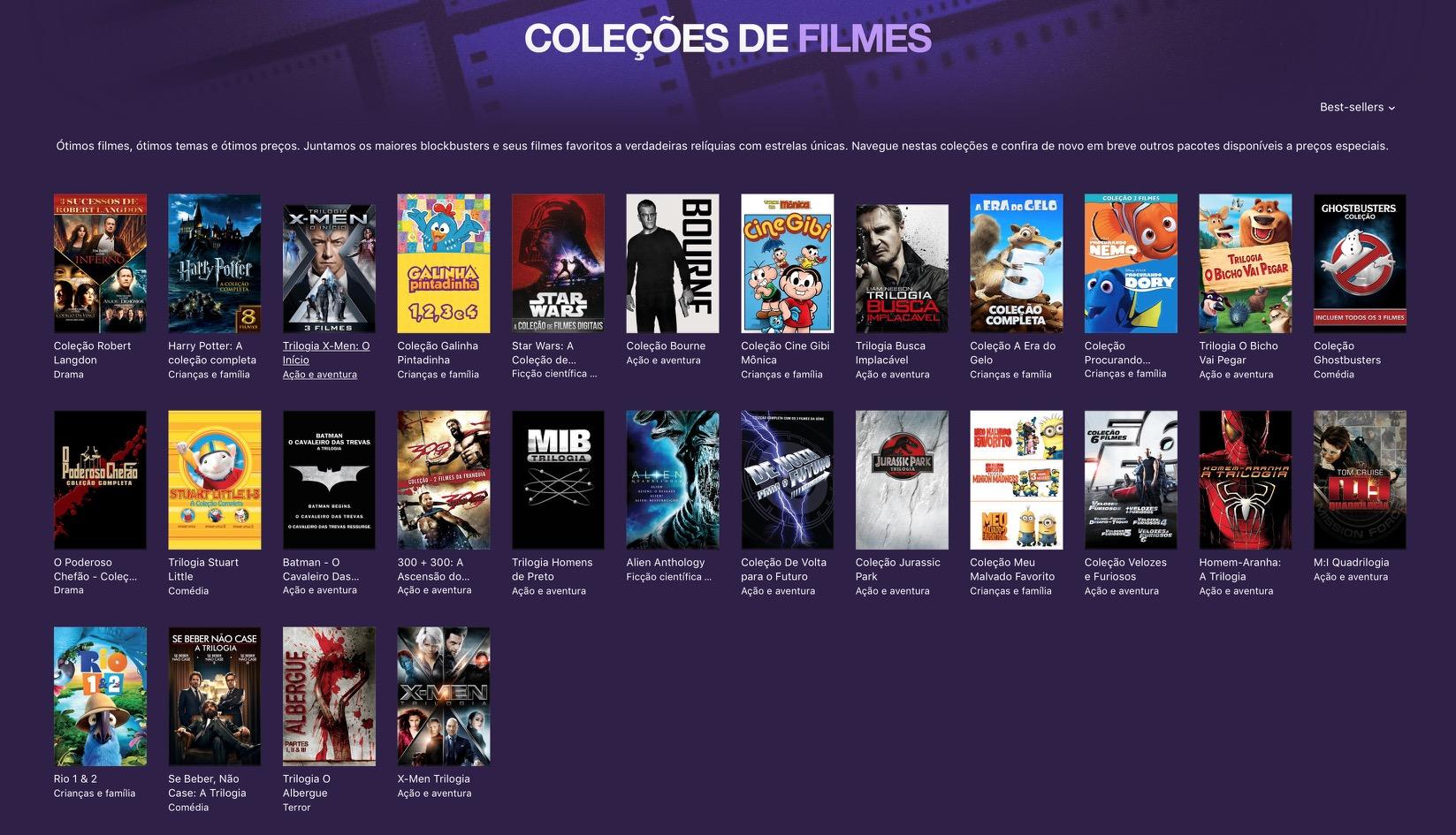 Coleção de filmes - iTunes [Movie] Store
