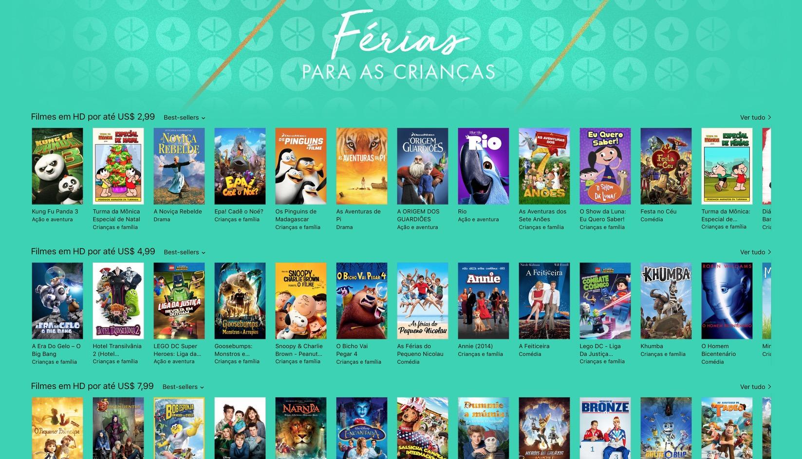 Férias para as crianças - iTunes [Movie] Store