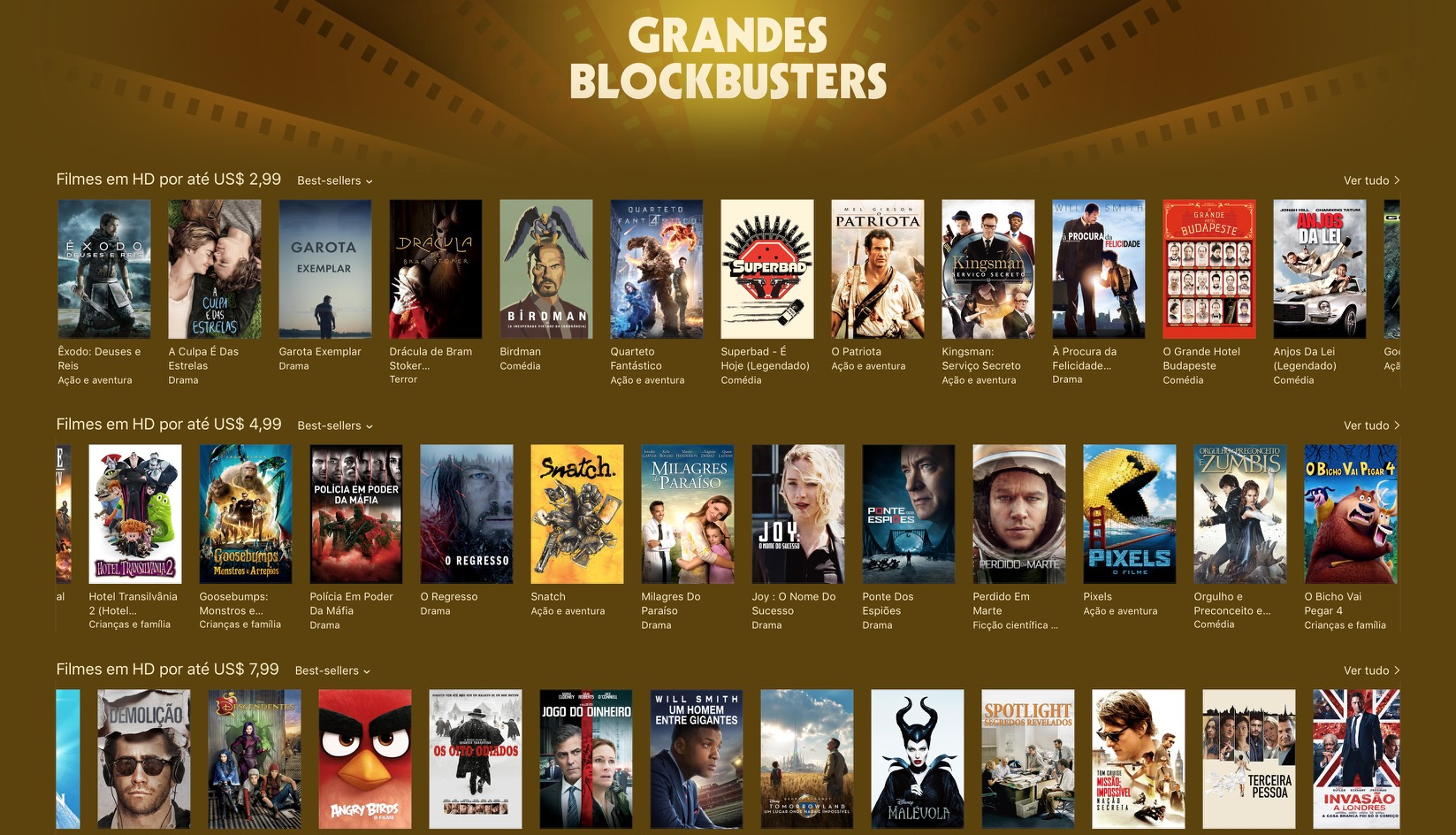 Grandes blockbusters - iTunes [Movie] Store