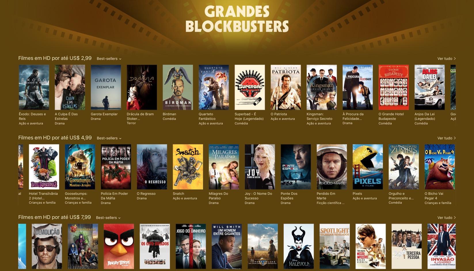 Grandes blockbusters - iTunes [Movie] Store