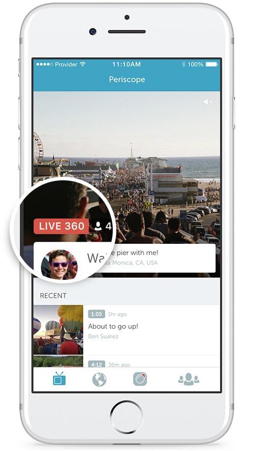 Vídeo live em 360ºno Periscope