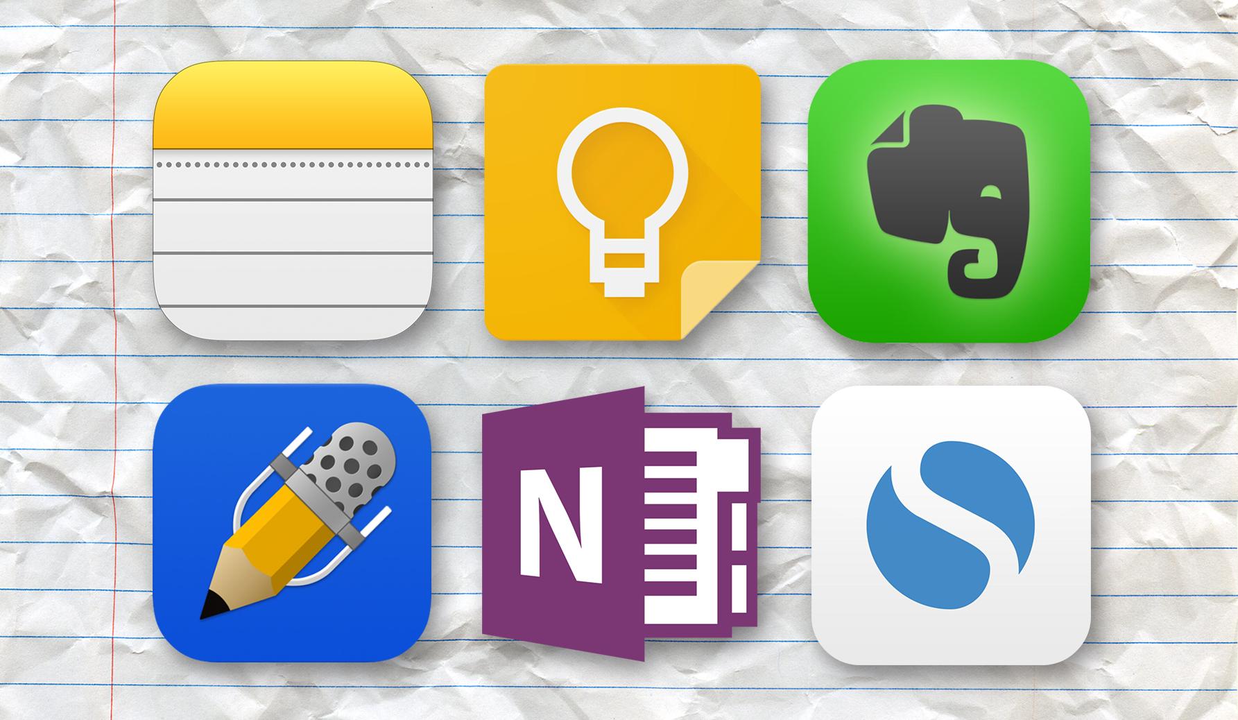 Comparativo entre aplicativos de anotação