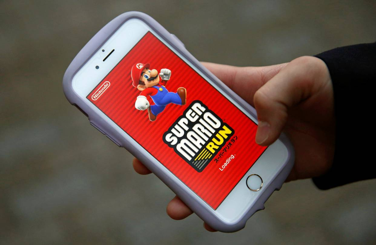 Super Mario Run num iPhone