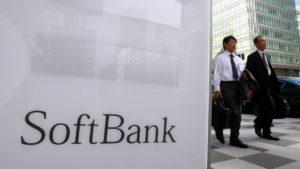 Logo da SoftBank na rua