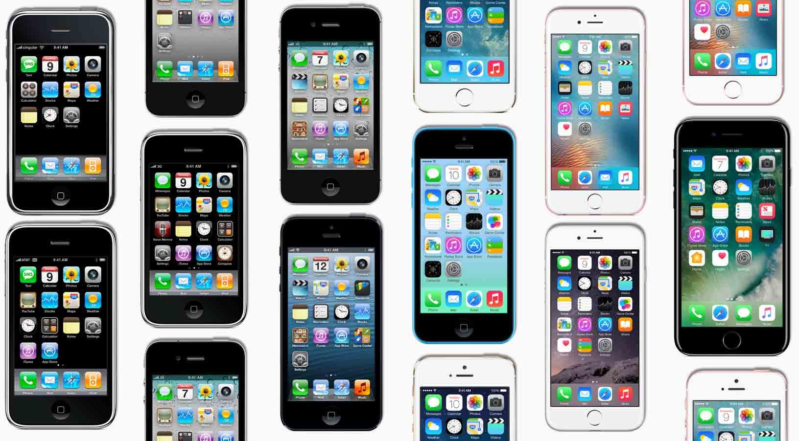Todas as gerações do iPhone