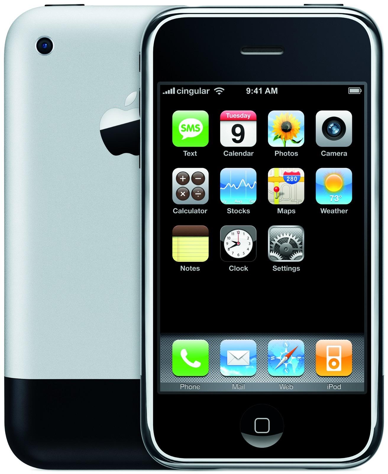 Imagem promocional do iPhone original