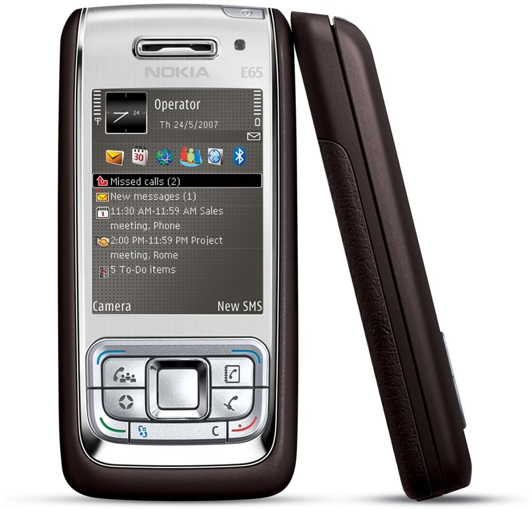 Nokia E65, modelo da mesma época do lançamento do iPhone