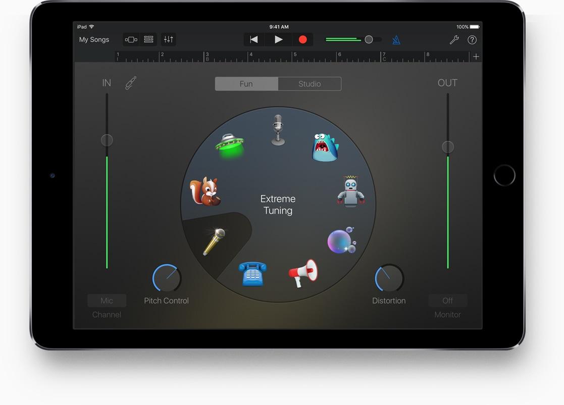 GarageBand no iPad