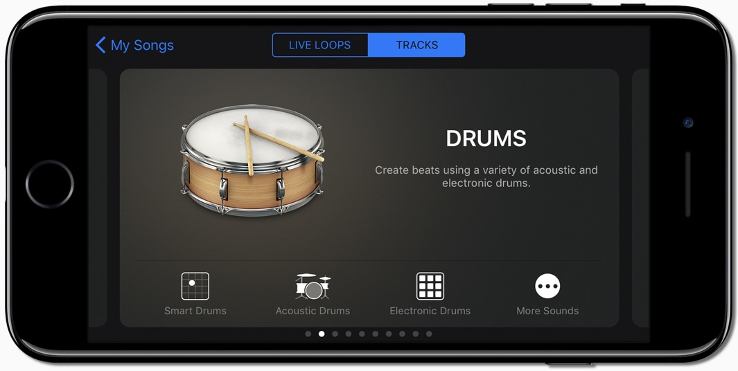 GarageBand no iPhone