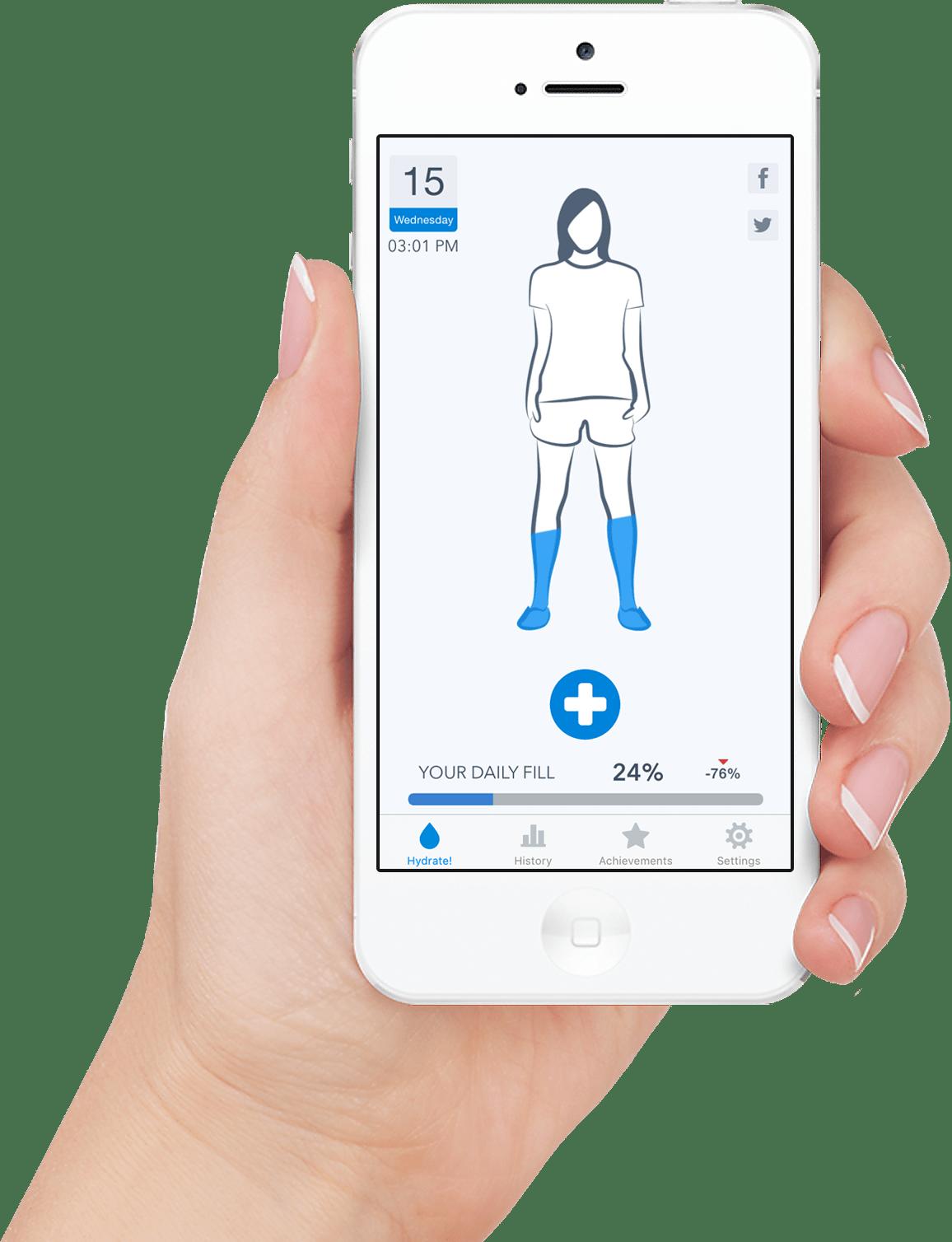 Imagem promocional do app WaterMinder para iOS e watchOS