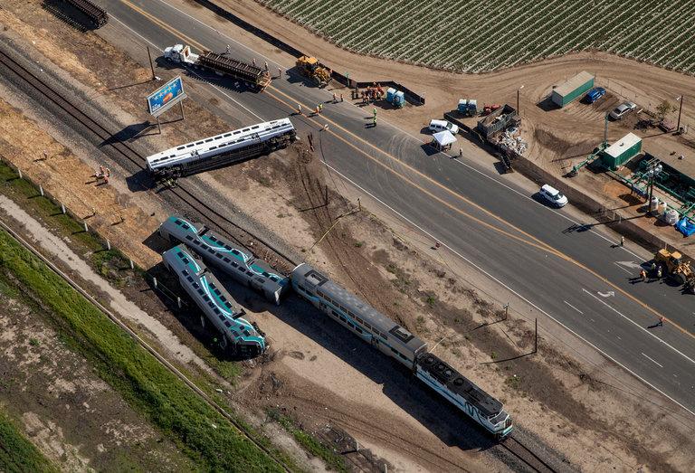 Acidente de Trem na Califórnia