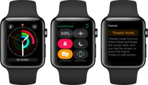 Modo Teatro no watchOS 3.2 beta
