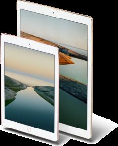 """iPads Pro de 9,7"""" e 12,9"""""""