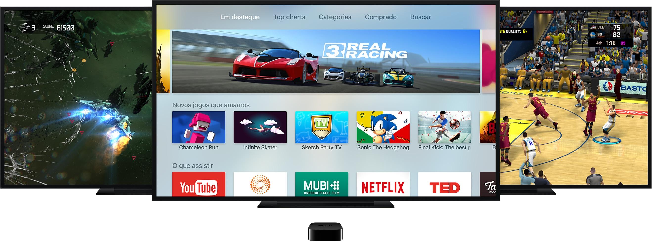 Jogos na Apple TV de quarta geração