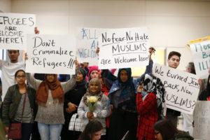 Protesto contra a ordem executiva de Donald Trump