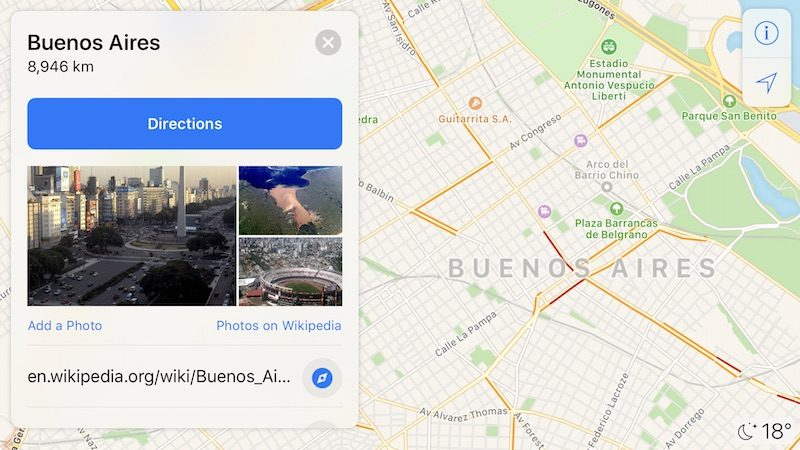 Apple Maps trânsito Argentina